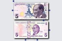 ترکیه اسکناسهای جدید ۵، ۵۰و ۲۰۰لیرهای را معرفی کرد