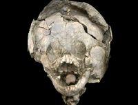 کشف بقایای نوزادانی 2هزار ساله با کلاه ایمنی! +عکس