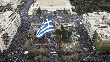 اعتراضات مردم یونان به نامگذاری کشور مقدونیه +تصاویر