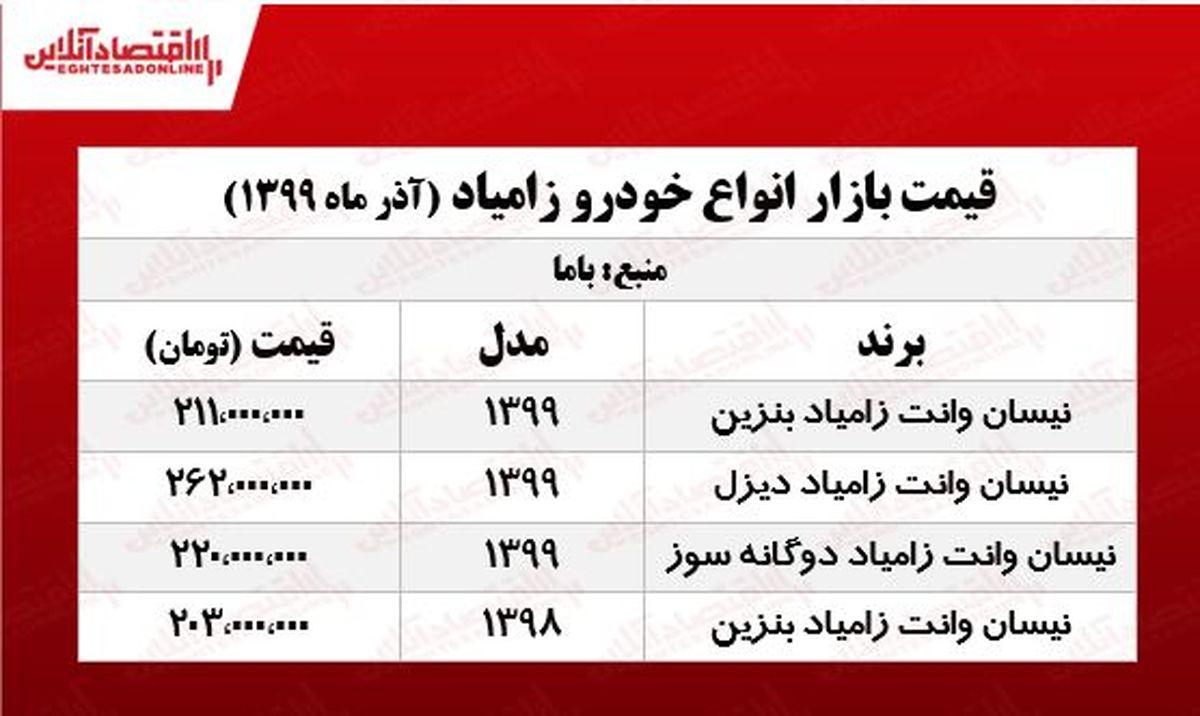 قیمت جدید نیسان آبی در پایتخت +جدول