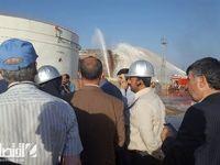 آتش سوزی بیستون مهار شد+دلیل حادثه