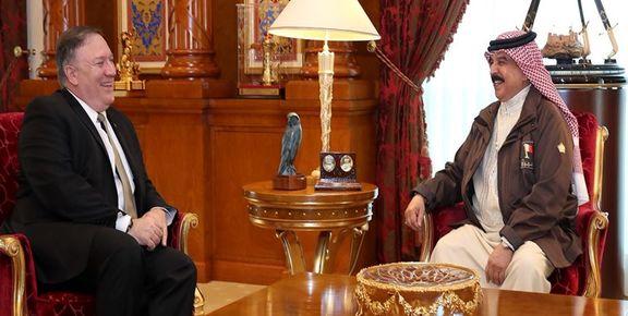 دیدار «پامپئو» با پادشاه بحرین در منامه