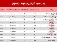 آپارتمانهای دوخوابه اصفهان چند؟ +جدول
