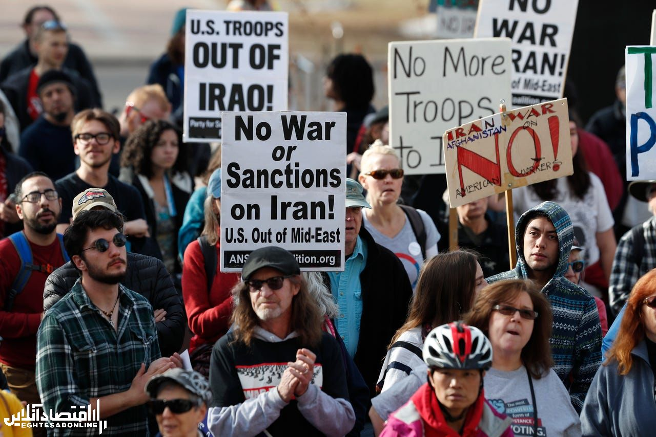 تظاهرات ضد جنگ در ایالتهای مختلف امریکا