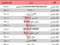 نرخ انواع کیف و کوله مدرسه دربازار تهران؟ +جدول