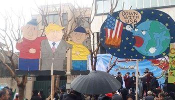 ۲تصویر متفاوت از ترامپ در راهپیمایی ۲۲بهمن