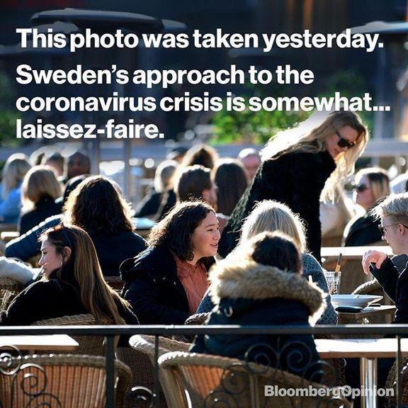 این عکس روز گذشته از یکی از کافههای سوئد گرفته شده