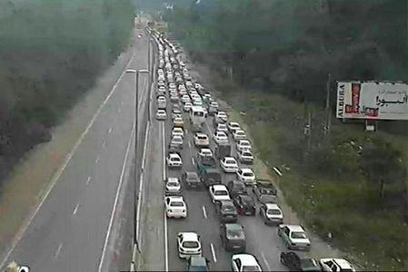 ترافیک سنگین در جاده هراز +عکس