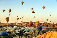 جشنواره بینالمللی بالونهای داغ در کاپادوکیای ترکیه +تصاویر
