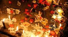 روشن کردن شمع برای شهدای حادثه تروریستی اهواز +تصاویر