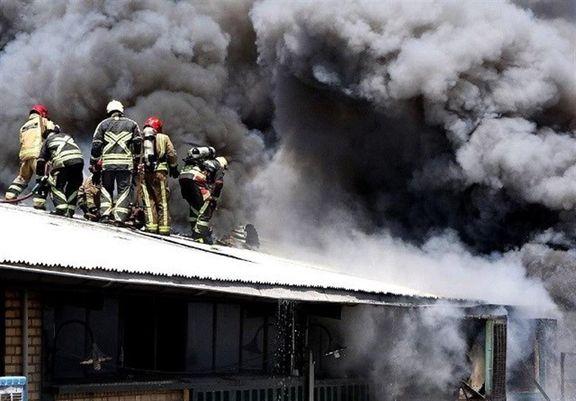 آتشسوزی گسترده انبار لوازم خانگی در خیابان خیام