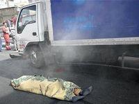 مرگ فجیع راننده کامیونت زیر قطعات خودرو +تصاویر