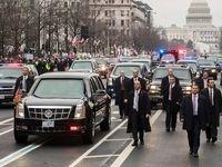 تصادف چند نفر از اعضای کاروان اسکورت ترامپ