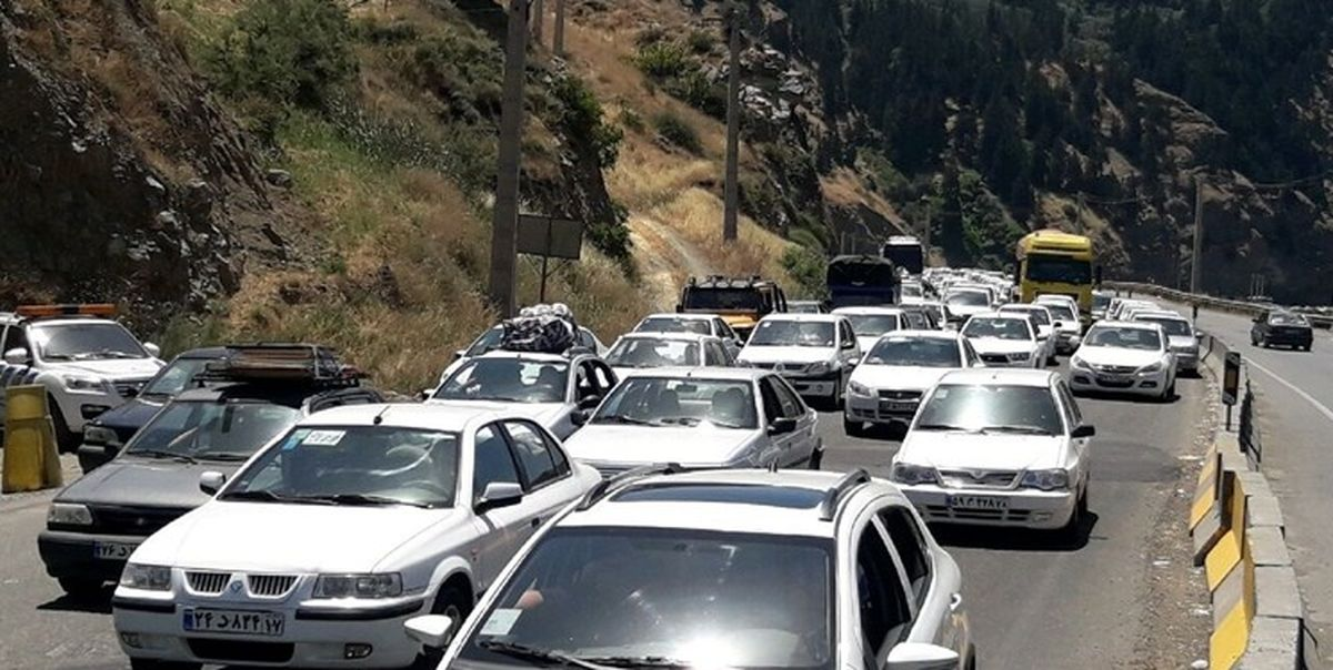 ترافیک سنگین در محور هراز و چالوس