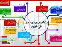 نقشه خطوط متروی تهران/ از ساعت کاری خطوط تا نام ایستگاهها