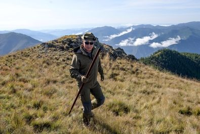 پوتین در جنگلهای سیبری