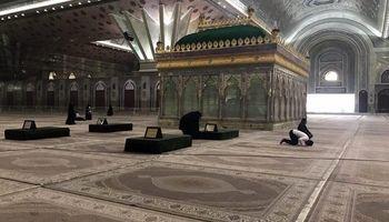 حرم مطهر امام از زائران خالی شد +عکس
