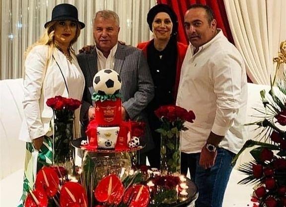 علی پروین و همسرش +عکس