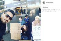 سلفی خواننده معروف با معترضان آمریکایی +عکس