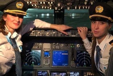 تیم زنان شرکت هواپیمایی روسی پابدا در مسیر مسکو به استانبول