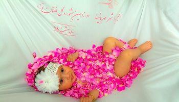 آیین گلغلتان نوزادان در امیریه دامغان +عکس