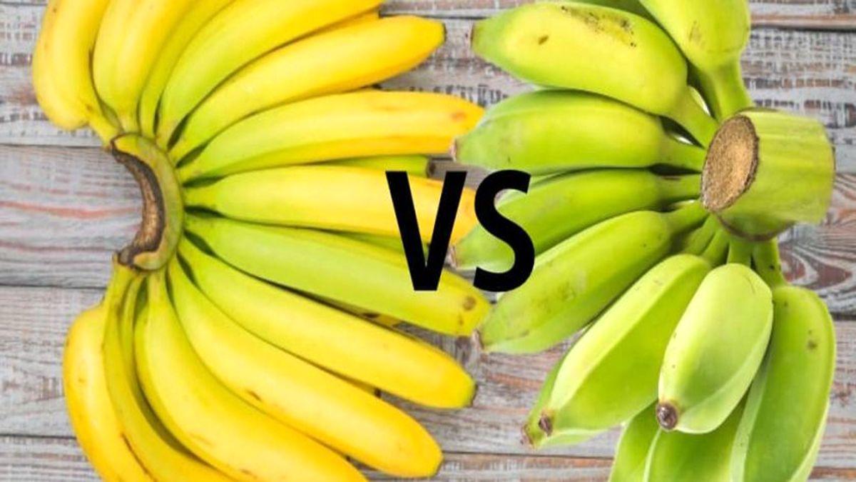 موز سبز و زرد چه تفاوتی با هم دارد؟