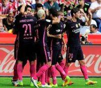برتری بارسلونا بدون مسی برابر خیخون