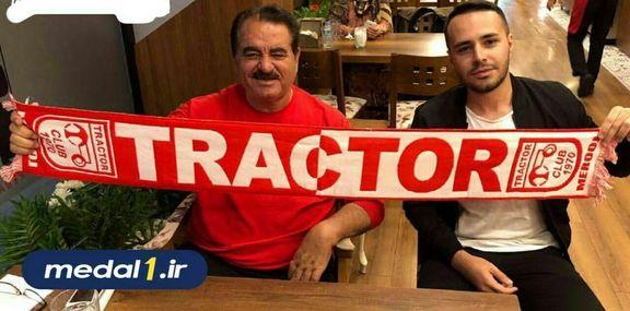 خواننده معروف ترکیهای با پرچم باشگاه ایرانی +عکس