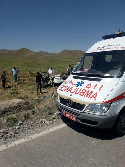 تصادف اتوبوس درمحور طبس یک کشته برجای گذاشت