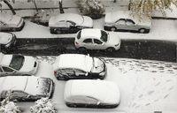 برف و ترافیک تهران به روایت تصویر