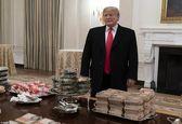 مهمانی فست فودی ترامپ در کاخ سفید +فیلم
