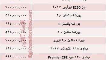 خودروهای آلمانی در بازار تهران چند؟ + جدول
