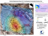 بیشترین جابجایی پوسته زمین در زلزله اخیر در ایران بود