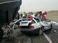 5کشته در تصادف پراید با کامیون در کیاسر