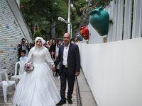 ازدواج 2کارتنخواب در شبی بارانی +عکس