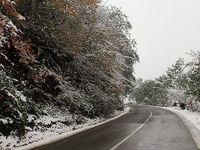 برف و باران در محورهای۷ استان