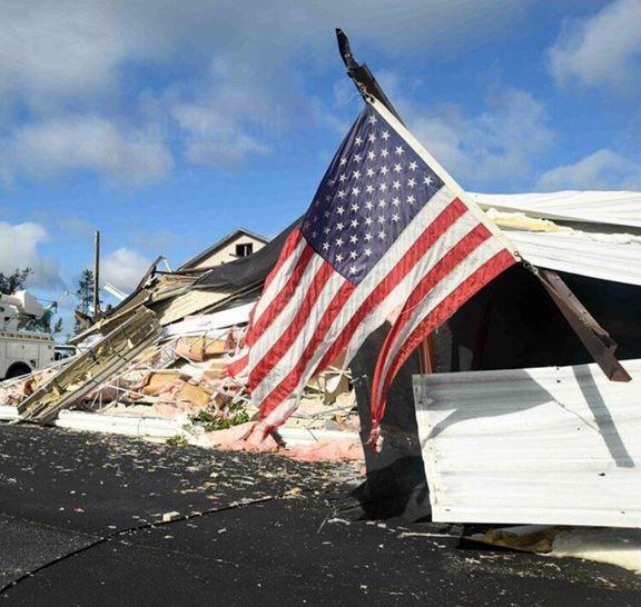 مدرسه تخریب شده در ایالت میسی سیپی بعد از طوفان