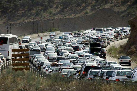 ترافیک سنگین در محور هراز، چالوس و فیروزکوه