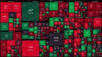 نقشه بورس امروز بر اساس ارزش معاملات / شاخص کل در ارتفاع یک میلیون و ۴۷۹هزار واحد قرار گرفت