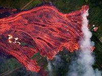 هاوایی، غرق در مواد مذاب +تصاویر
