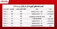 قیمت انواع تبلت کیبورد دار در بازار +جدول