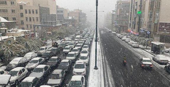 ترافیک پایتخت سنگین است