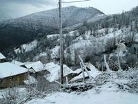 بارش برف پاییزی در گیلان +عکس