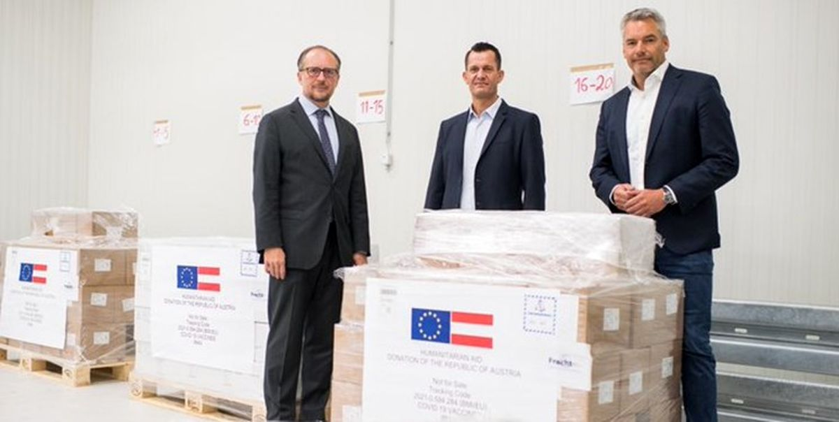 اتریش یک میلیون دُز واکسن به ایران اهدا می کند
