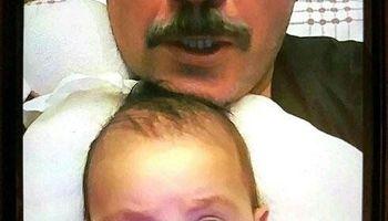 تصویری خاص از مهران غفوریان و دخترش