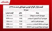 قیمت خودرو هیوندای در پایتخت +جدول