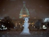 برف و کولاک در آمریکا +فیلم