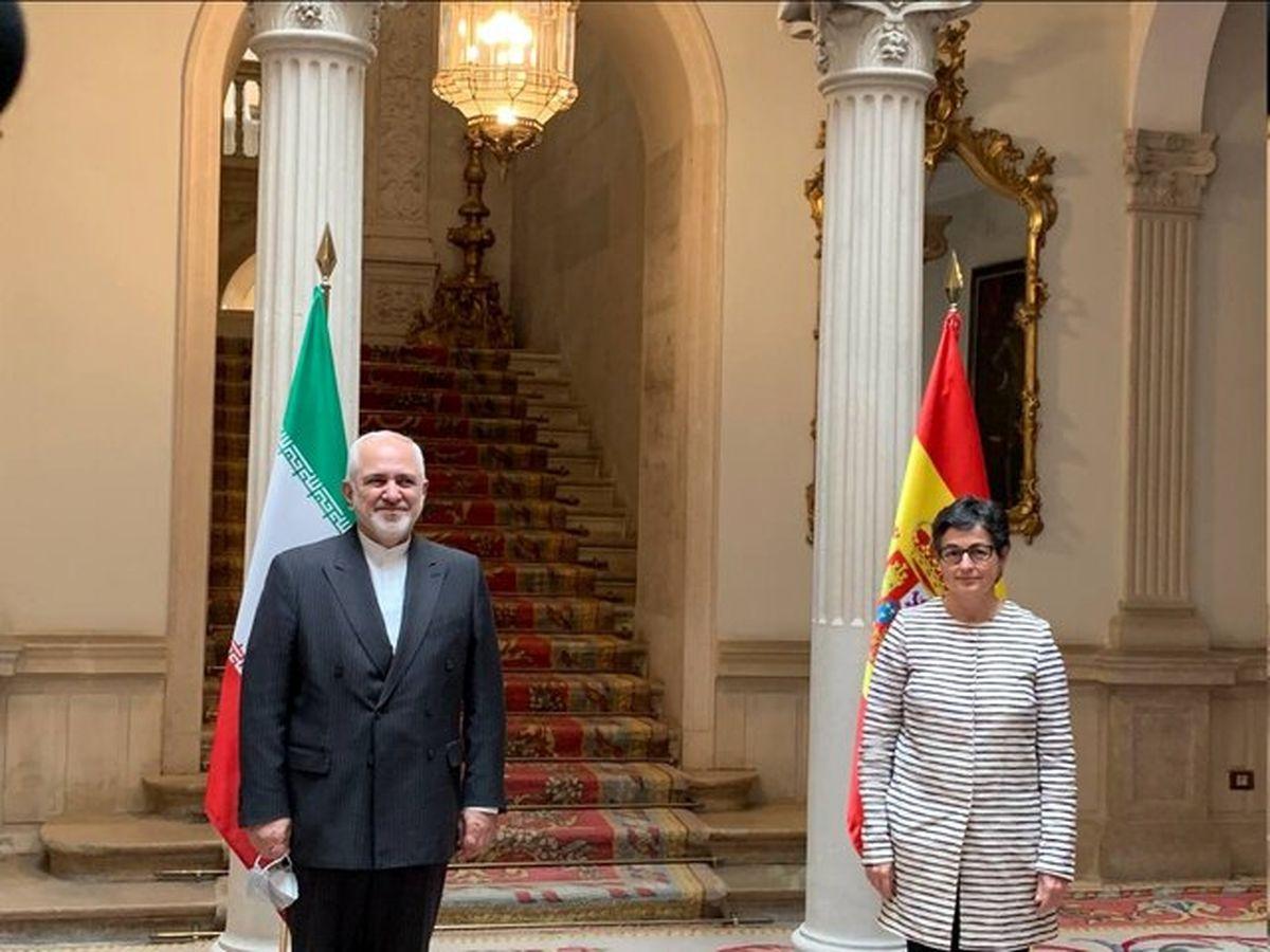 ظریف با وزیر امور خارجه اسپانیا دیدار کرد