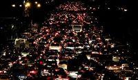 ترافیک در آزادراه تهران - کرج سنگین است