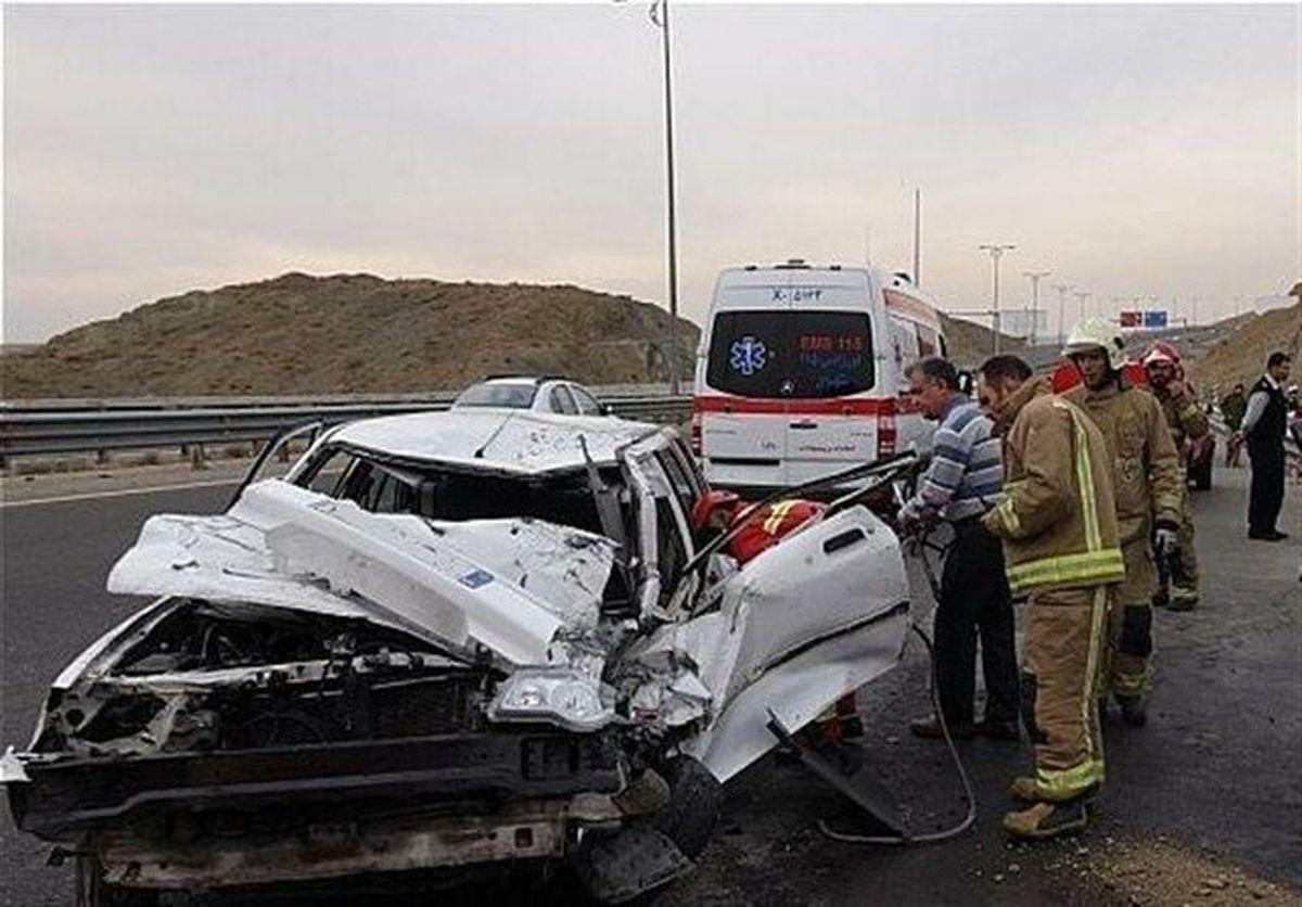 تصادف خونبار خودرو با گاومیش ۹مصدوم به جا گذاشت